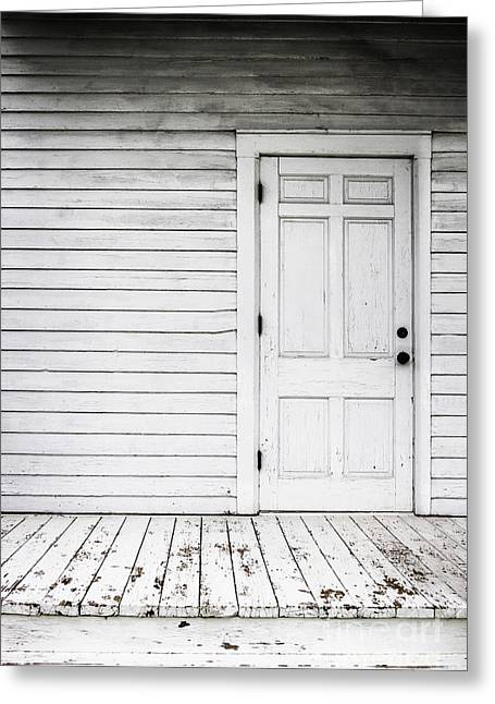 Side Porch Greeting Cards - Old and White Greeting Card by Margie Hurwich