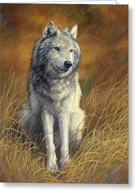 Wild Animals Paintings Greeting Cards - Old and Wise Greeting Card by Lucie Bilodeau