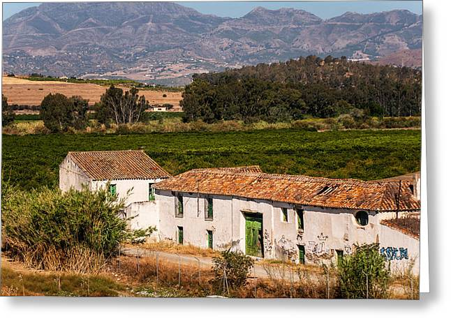Old Andalusian Farm House. Spain Greeting Card by Jenny Rainbow