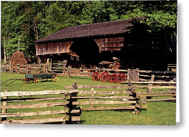 Tn Barn Greeting Cards - Old Appalachian Farm Cantilevered Barn Greeting Card by Paul W Faust -  Impressions of Light