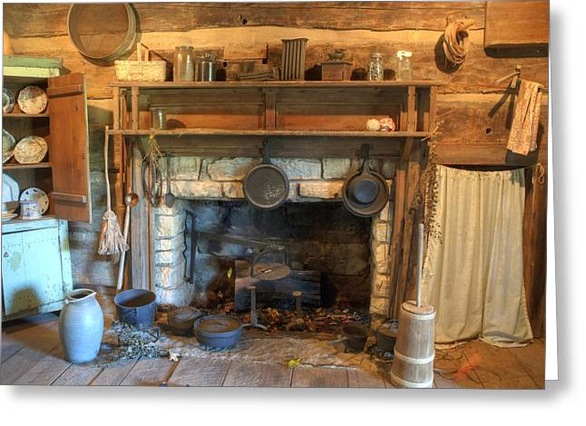 Old Cabins Greeting Cards - Old Appalpachian Kitchen Greeting Card by Paul W Faust -  Impressions of Light