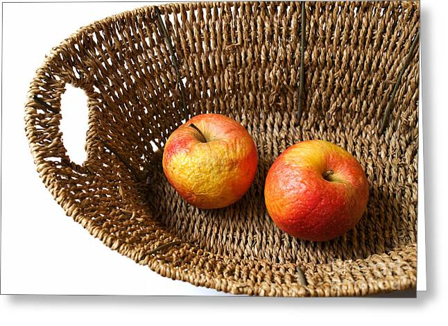 Apple Art Greeting Cards - Old apples Greeting Card by Sinisa Botas