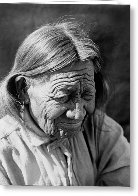 Arapaho Greeting Cards - Old Arapaho Man circa 1910 Greeting Card by Aged Pixel