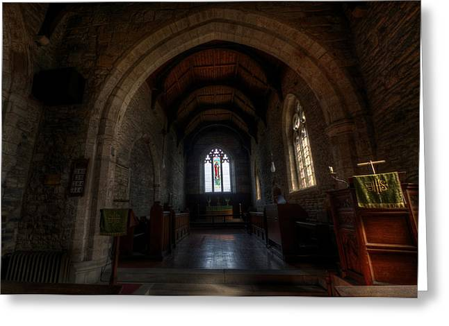 Sacred Digital Greeting Cards - Old arch Greeting Card by Nathan Wright