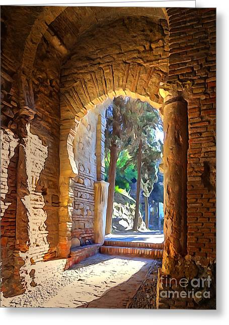 Photoart Greeting Cards - Old Archway Greeting Card by Lutz Baar