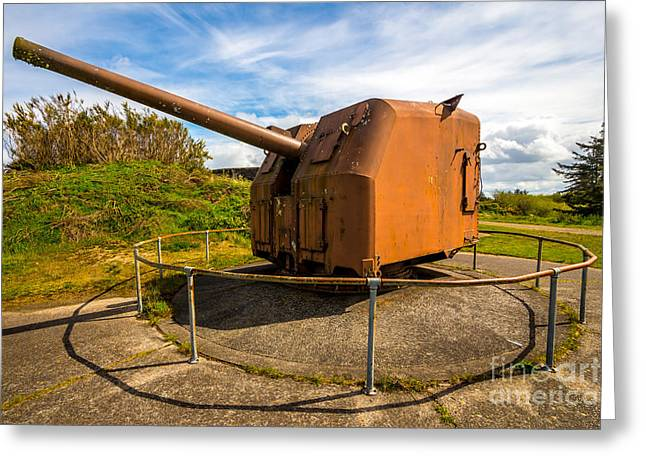 Artillery Gun Greeting Cards - Old Artillery Gun - Ft. Stevens - Oregon Greeting Card by Gary Whitton