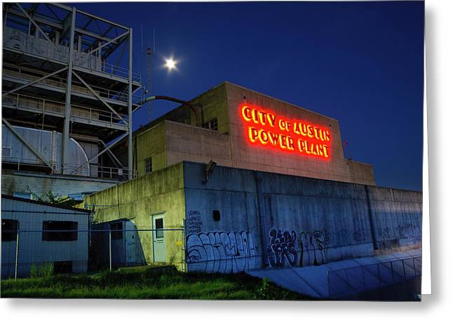 Old Austin Power Plant Greeting Card by Mark Weaver