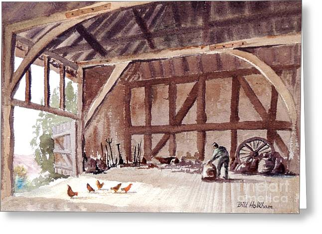 Old Barn At Amberley Sussex Greeting Card by Bill Holkham