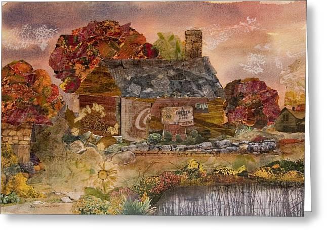 Old Barns Mixed Media Greeting Cards - Old Barn Greeting Card by Barbara Kinnick
