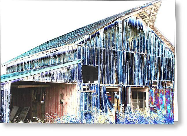 Barn Door Greeting Cards - Old Barn by Earls Photography Greeting Card by Earl  Eells a