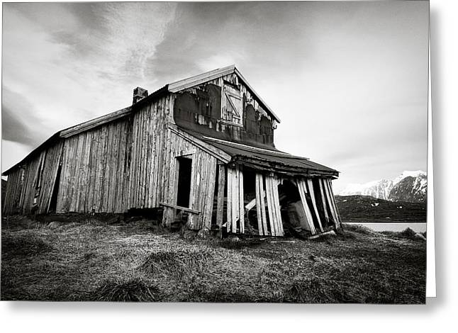 Disused Greeting Cards - Old Barn Greeting Card by Dave Bowman
