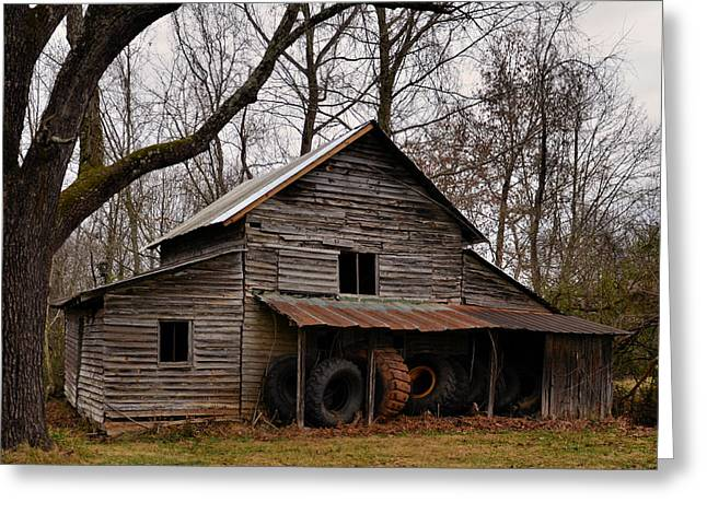 Pond Greeting Cards - Old Barn Dobbins Mill - 51008878c Greeting Card by Paul Lyndon Phillips