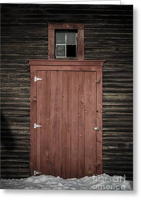 Latch Greeting Cards - Old Barn Door Greeting Card by Edward Fielding