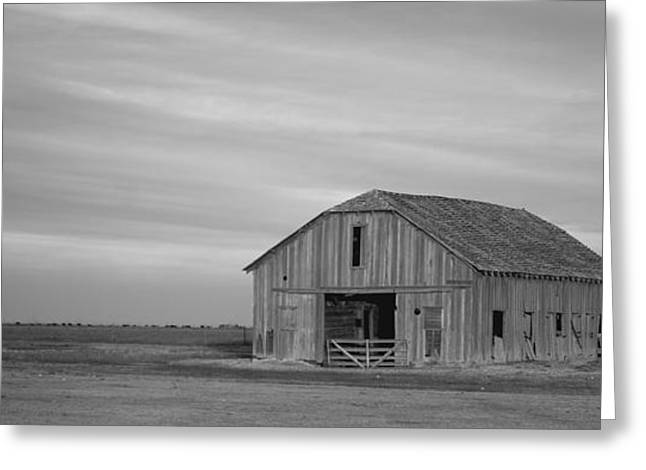 Wooden Building Greeting Cards - Old Barn  Greeting Card by Gary Langley
