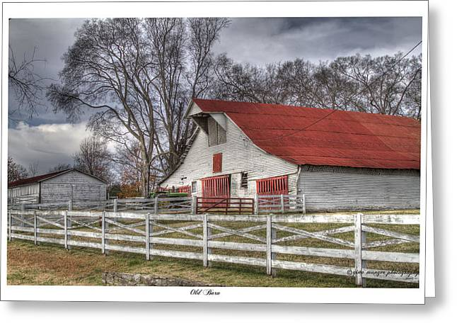 Brentwood Barn Greeting Cards - Old Barn Greeting Card by Gina Munger