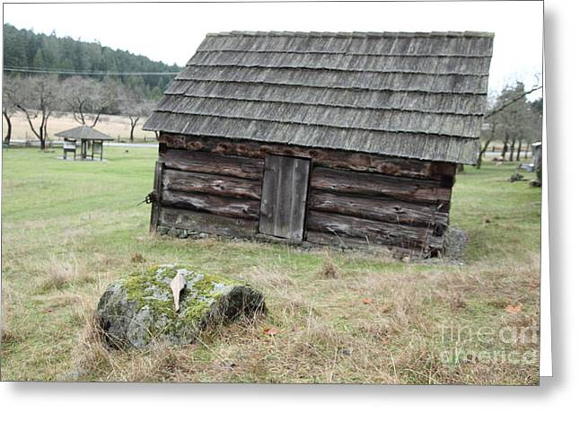 Old Barn Greeting Card by Graham Foulkes