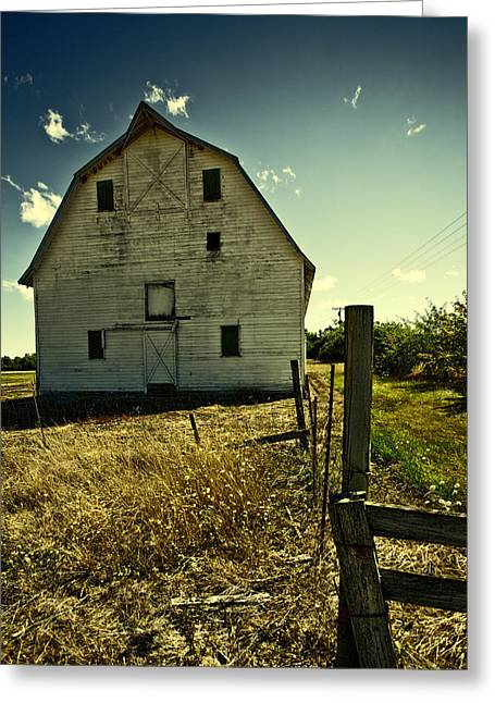 Old Fence Greeting Cards - Old Barn II Greeting Card by Bonnie Bruno