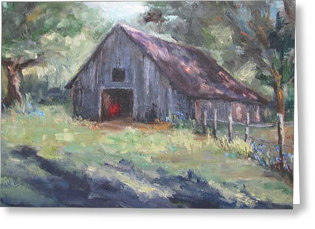 Old Barn In Arkansas Greeting Card by Sharon Franke