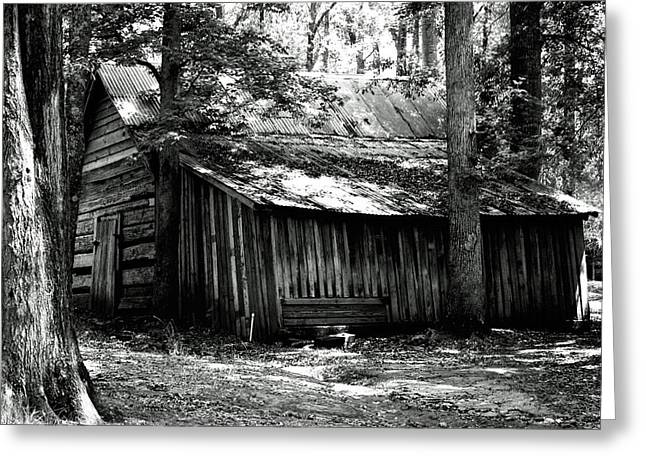 Old Barns Greeting Cards - Old Barn in Georgia Greeting Card by Donald Williams