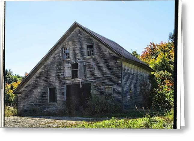 Old Maine Barns Greeting Cards - Old Barn in the Country Greeting Card by Victoria  Dauphinee