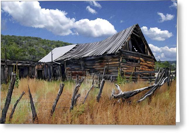 Old Barns Greeting Cards - Old Barn Las Trampas New Mexico Greeting Card by Kurt Van Wagner
