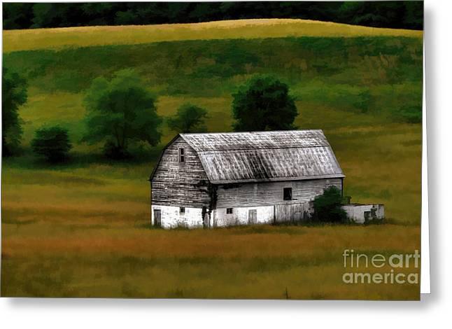 Old Barn Near Buckhannon Greeting Card by Dan Friend