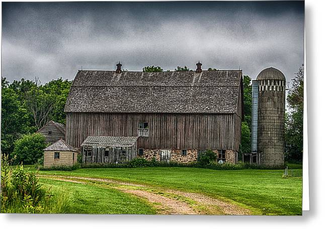 Old Barn On A Stormy Day Greeting Card by Paul Freidlund