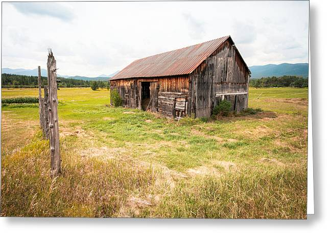 Old barn on Highway 86 - Rustic Barn Greeting Card by Gary Heller