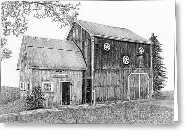 Old Barn Greeting Card by Sarah Batalka