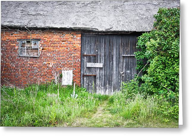 Red Roof Photographs Greeting Cards - Old barn Greeting Card by Tom Gowanlock