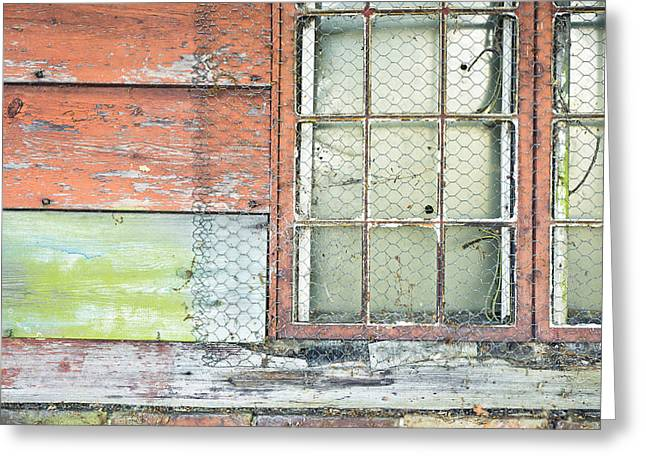 Shed Photographs Greeting Cards - Old barn window Greeting Card by Tom Gowanlock