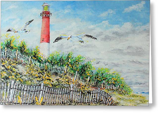 Sand Fences Mixed Media Greeting Cards - Old Barney Greeting Card by Martin Way