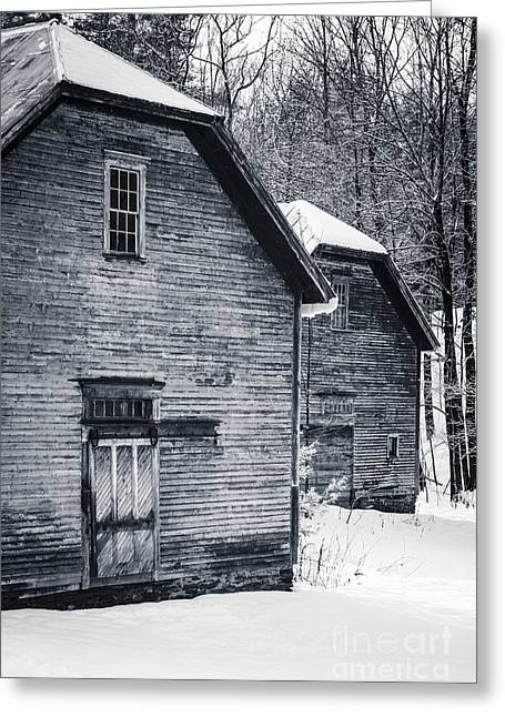 White Barns Greeting Cards - Old Barns Windsor Vermont Greeting Card by Edward Fielding