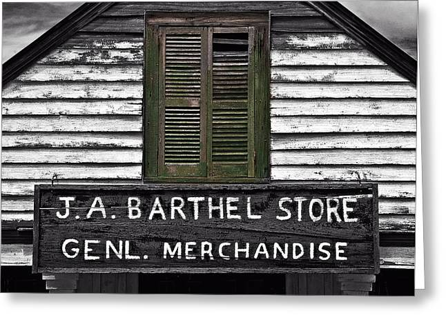 Louisiana Greeting Cards - Old Barthel Store Greeting Card by Andy Crawford