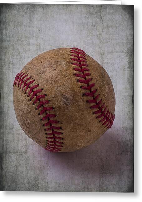 Baseball Game Photographs Greeting Cards - Old Baseball Greeting Card by Garry Gay
