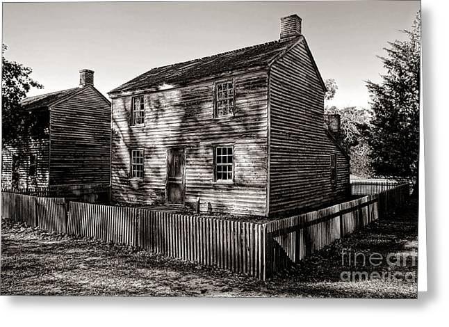 Clapboard House Greeting Cards - Old Batsto Greeting Card by Olivier Le Queinec