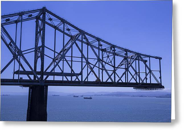 Old Bay Bridge Greeting Card by Garry Gay