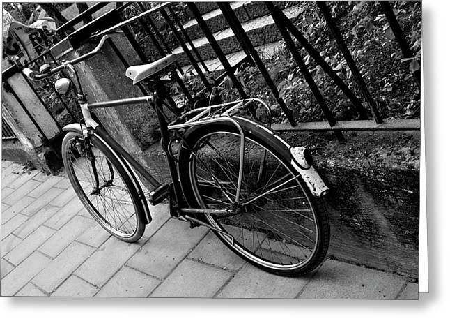 Frederico Borges Photographs Greeting Cards - Old Bicycle Greeting Card by Frederico Borges