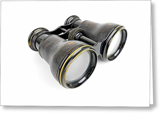 Determination Photographs Greeting Cards - Old Binoculars Greeting Card by Chevy Fleet