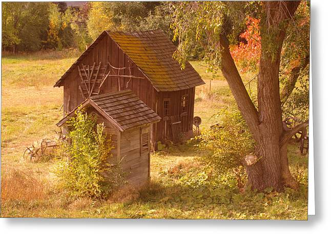 Old Relics Photographs Greeting Cards - Old Blacksmiths Shop  Greeting Card by Jeff  Swan
