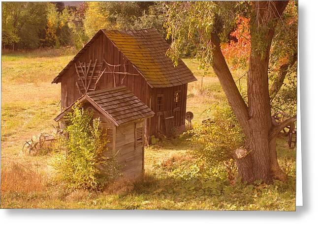 Rural Setting Greeting Cards - Old Blacksmiths Shop  Greeting Card by Jeff  Swan