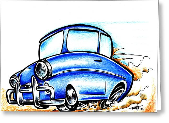 I Roate This Drawings Greeting Cards - Old Blue Greeting Card by Big Mike Roate
