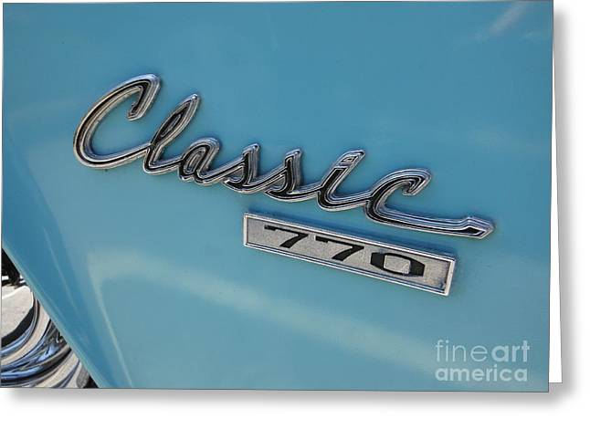 American Motors Corporation Greeting Cards - Old Blue Rambler 2 Greeting Card by Paddy Shaffer