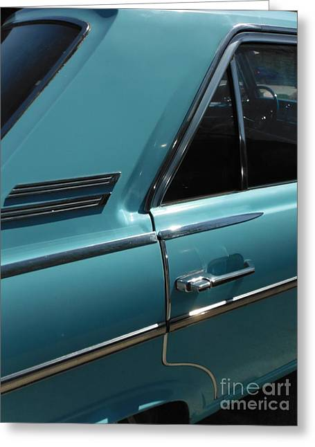 American Motors Corporation Greeting Cards - Old Blue Rambler 5  Greeting Card by Paddy Shaffer