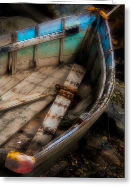 Son Gift Greeting Cards - Old Boat 2 Stonington Maine Greeting Card by David Smith