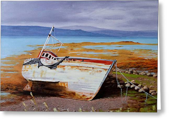 Lepercq Veronique Greeting Cards - Old Boat Greeting Card by Lepercq Veronique