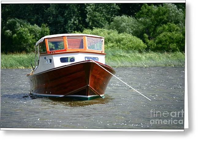 Adventure Photographs Greeting Cards - Old Boat Greeting Card by Sophie Vigneault
