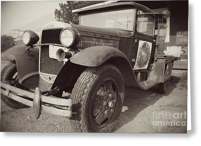 Ford Model T Car Greeting Cards - Old Bones 2 Greeting Card by Cheryl Young