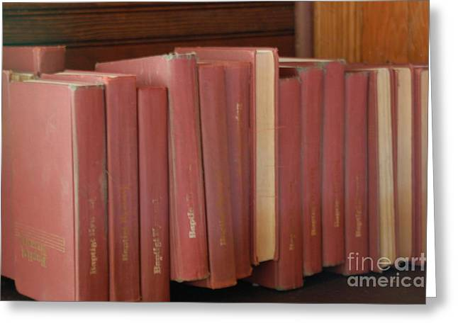 Red School House Greeting Cards - Old Books Greeting Card by Ruth Ann Behlmann