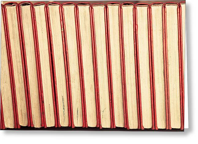 Hardcover Greeting Cards - Old books Greeting Card by Tom Gowanlock